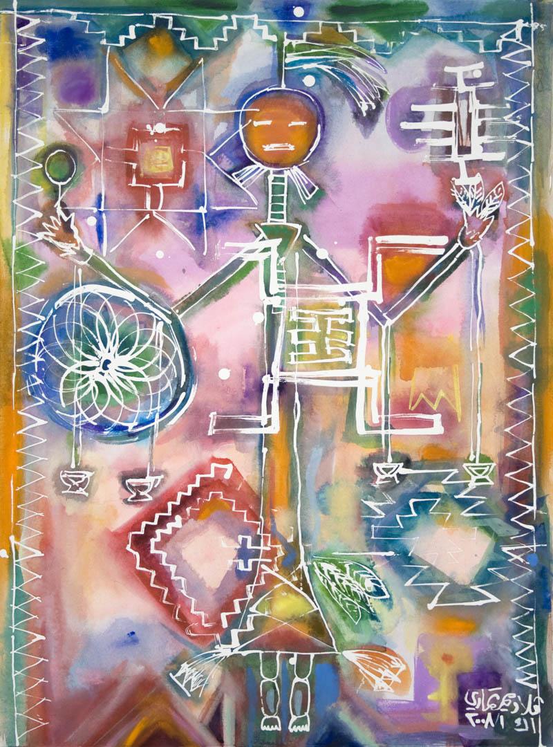artist Vladimir Tamari's painting of Cacioppo's music